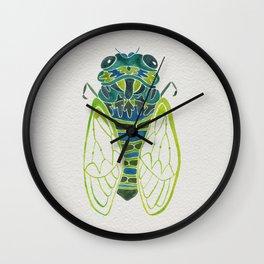 Blue Cicada Wall Clock
