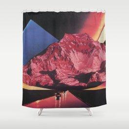 Neon Highway Shower Curtain
