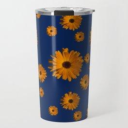 Orange power flower Travel Mug