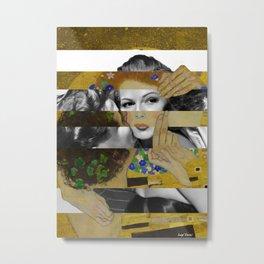 Klimt's The Kiss & Rita Hayworth with Glenn Ford Metal Print