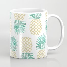 Gold Pineapples Coffee Mug