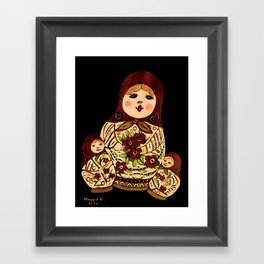 Russian dolls 2 / warmer colors  Framed Art Print