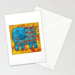 Patterned Elephant Stationery Cards