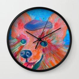 Pele the Pomeranian Wall Clock