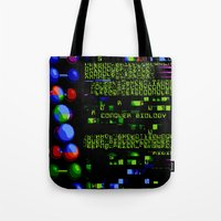 biology Tote Bags featuring Conquer Biology by Leone Bachega