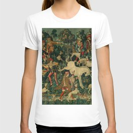 The Unicorn Defends Itself (from the Unicorn Tapestries) 1495–1505 T-shirt