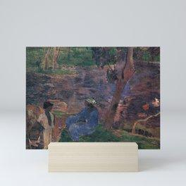 """Paul Gauguin - On the banks of the River at Martinique """"Au bord de la rivière"""" (1887) Mini Art Print"""