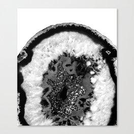 Gray Black White Agate Glitter Glamor #1 #gem #decor #art #society6 Canvas Print