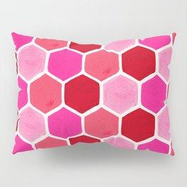 Hexagon Honeycomb Pattern – Valentine Palette Pillow Sham