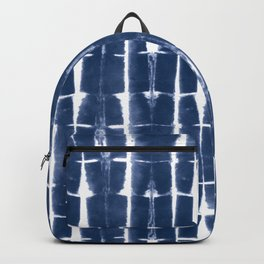 Shibori Stripes 3 Indigo Blue Backpack