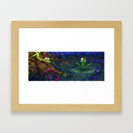 the lizard and the frog Framed Art Print