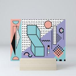 Memphis Pattern - 80s Retro - Pastel Colors Mini Art Print