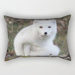 Polar Fox by Anne Elisabeth Rectangular Pillow