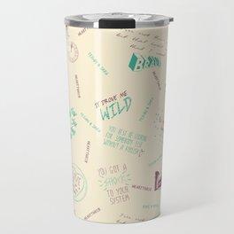 Doodlethrob (Tegan and Sara) creme Travel Mug