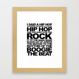 Rapper's Delight-Sugarhill Framed Art Print