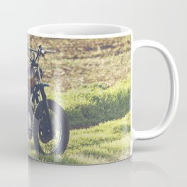 Moto guzzi, café racer, photo in south italy, man cave. Scrambler, fine art, motorcycle, motorbike Coffee Mug