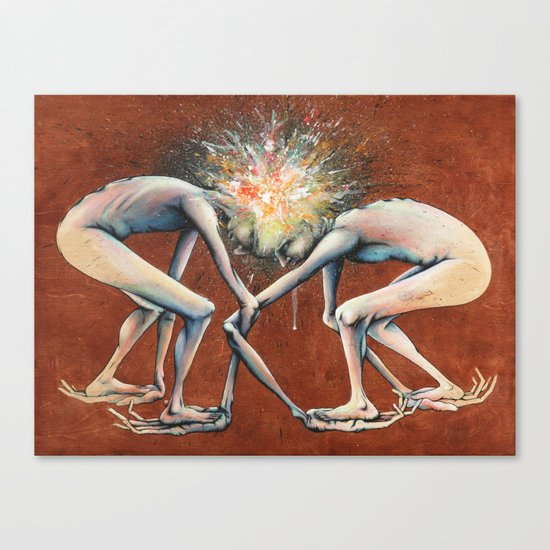 The Conjoined Collision Culmination Canvas Print