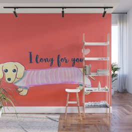 Valentine's Day dachshund dog Wall Mural