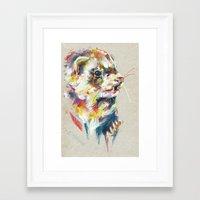 ferret Framed Art Prints featuring Ferret V by Nuance