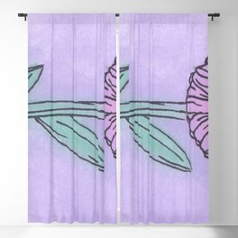 Purple Flower Blackout Curtain