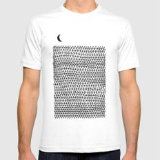 Land SMALL Mens Fitted Tee White