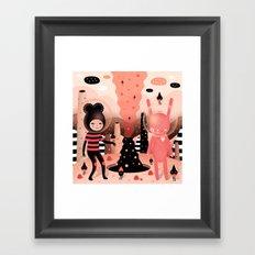 The magical mountain we shared - Muxxi X Paul Pierrot Framed Art Print