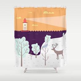 Wild Light Shower Curtain