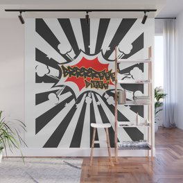 Bra Digga with Explosion Comic Style Club Sprechgesang Gang Wall Mural