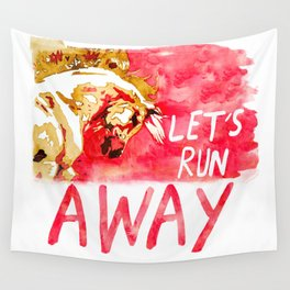 Let's Run Away Horse Wall Tapestry