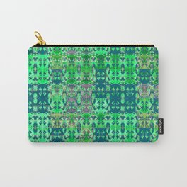 Green Modern African Geometric Carry-All Pouch