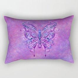 Butterfly In Purple Rectangular Pillow