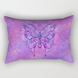 Butterfly In Purple Rectangular Pillow
