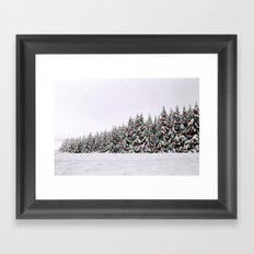 Festive Collage Framed Art Print