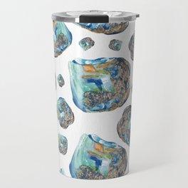 Opal October Birthstone Watercolor Illustration Travel Mug