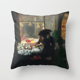 American Masterpiece 'Easter Eve' Washington Square, NY by John French Sloan Throw Pillow