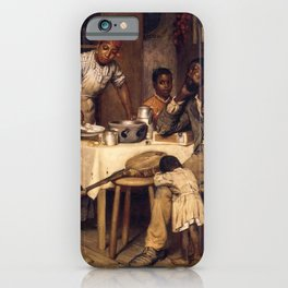 African American Masterpiece 'A Pastoral Visit' by Richard Norris Brooke iPhone Case