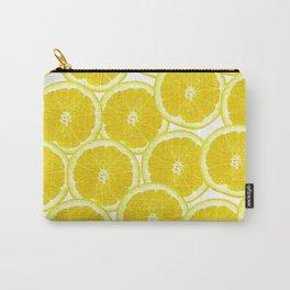 Summer Citrus Lemon Slices Carry-All Pouch