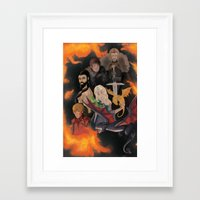 tyrion Framed Art Prints featuring Game of Thrones by MeghanHounsellArt