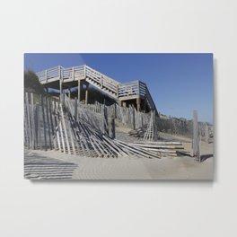 Beach Lines Metal Print