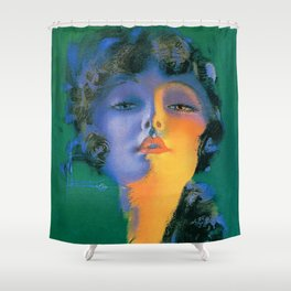 """Girl of My Dreams"" Pinup by Rolf Armstrong Shower Curtain"