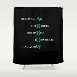 team arrow Shower Curtain