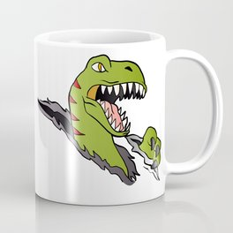 Velociraptor Dinosaur Coffee Mug
