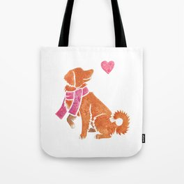 Watercolour Nova Scotia Duck Tolling Retriever Tote Bag