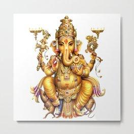 Ganesha - Hindu Metal Print