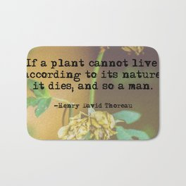 Thoreau Wisdom Bath Mat