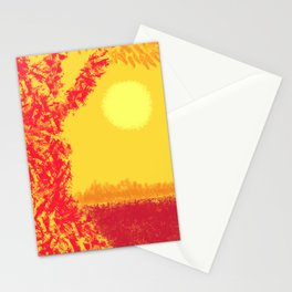 Red Tree, Hot Yellow Sun Stationery Cards