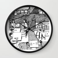 stockholm Wall Clocks featuring Stockholm by intermittentdreamscapes