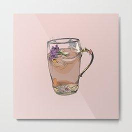 Cute iced tea, summer, drink, drinks, illustration, cocktail, cocktails, beverage Metal Print