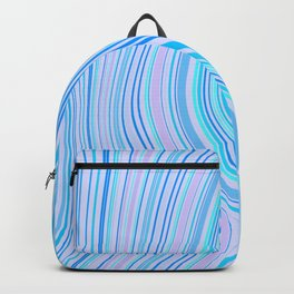 MAKENA pretty pale blue waves pattern with aquamarine and pink highlights Backpack