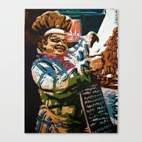 chef Canvas Prints featuring Chef by Five Ate Five Studios